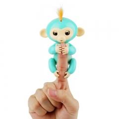 Finger monkey child toy electronic intelligent colorful finger monkey green 7cmX8cmX16cm