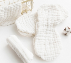 3 Pcs Baby Nappies Reusable Comfortable Infant Newborn Cloth Diaper Nappy Liners 6 Layers Cotton White 46*17cm