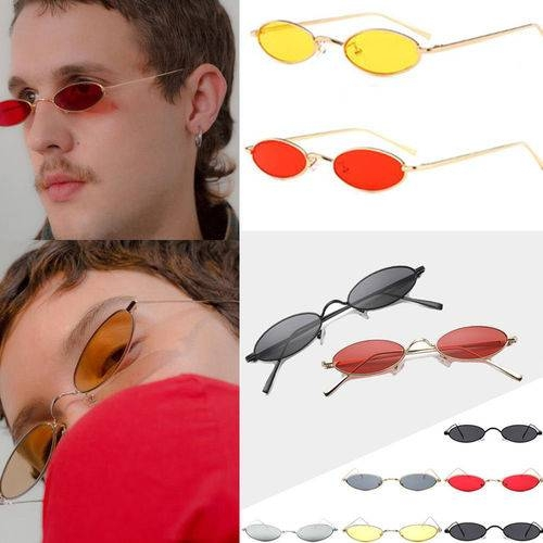 6fdffac3cd 2018 New Vintage Trendy Small Oval Frame Sunglasses Women s Retro Fashion  Shades dress up Glasses Gold Frame Red Lens Small Oval  Product No   2254747. Item ...