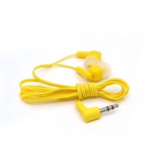 In-ear Sports Media Player Music Headphone iPhone samsung and android universal earphone yellow