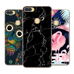 Phone Case For Infinix Hot 6 Pro/X608 6-inch Fashion Design Art Painted TPU Soft Case Silicone Cover Black Marble For Infinix Hot 6 Pro / X608