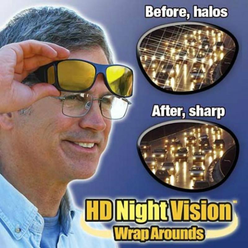 Fashion Optic Night Vision Driving Anti Glare HD Glasses Wind Protection Sunglasses for man or woman Black 15cm * 12.8cm * 5cm 14