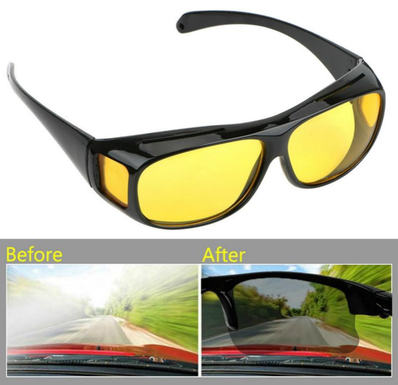 Fashion Optic Night Vision Driving Anti Glare HD Glasses Wind Protection Sunglasses for man or woman Black 15cm * 12.8cm * 5cm 16