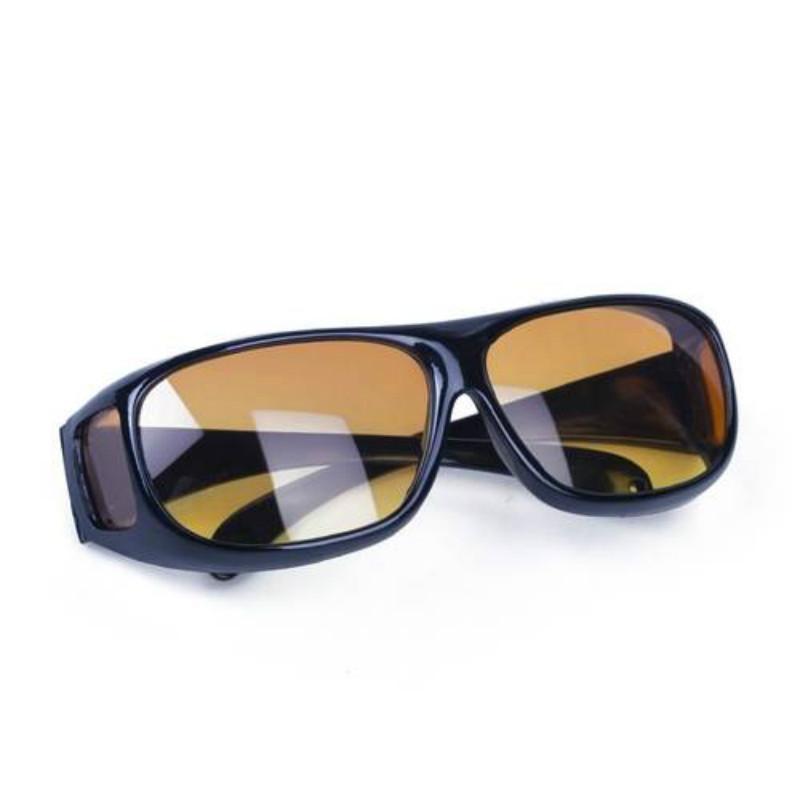 Fashion Optic Night Vision Driving Anti Glare HD Glasses Wind Protection Sunglasses for man or woman Black 15cm * 12.8cm * 5cm 17