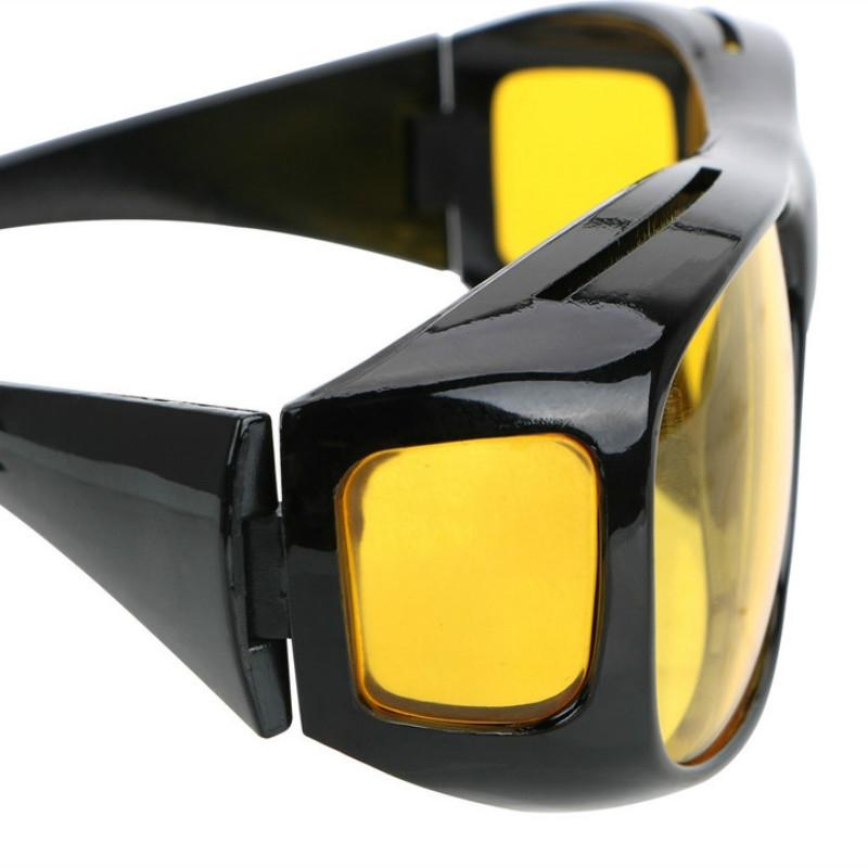 Fashion Optic Night Vision Driving Anti Glare HD Glasses Wind Protection Sunglasses for man or woman Black 15cm * 12.8cm * 5cm 19