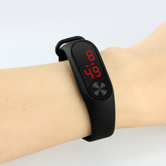 Leds bracelet watch sports fashion electronic bracelets watches smartwatch for men and women black couple(2pcs)