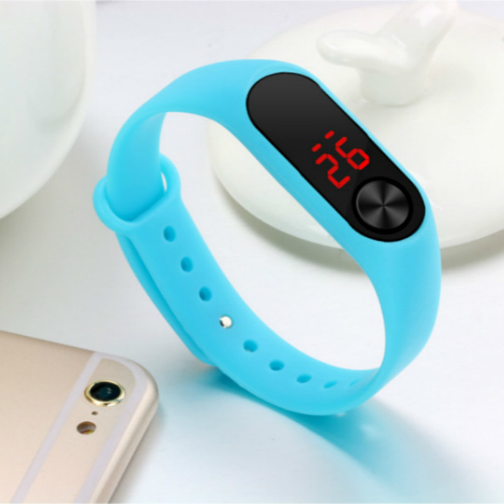 Leds bracelet watch sports fashion electronic bracelets watches watch for men and women blue one size
