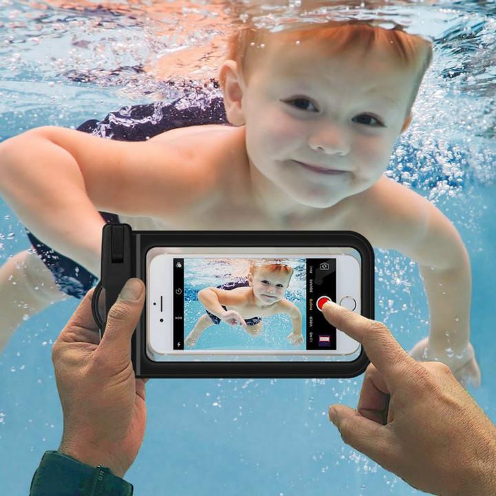 Transparent PVC Waterproof Phone Bag for ouotdoor drifting diving sealed swimming  waterproof bag black one size