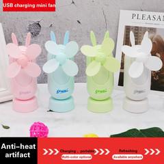 Summer usb charging small fans usb student dormitory office creative cartoon portable  mini fan pink