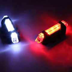 Bikes Bicycle light LED Taillight Rear Tail Safety Warning Cycling Portable Lights USB Rechargeable white