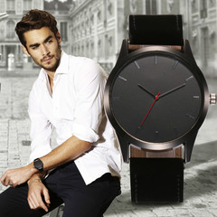 New business watches men hot sales fashion casual scrub quartz watchs wristwatches wristband watche black one size