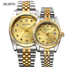 High-end couple watches men and women ladies waterproof fashion business gold watchs wristwatches gold Men's watch(1pcs)
