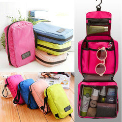 Zipper Women Makeup Cosmetic bag Organizer Toiletry Storage Travel Handbag for ladies Washed pouch pink approx 13*20*5cm