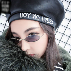 2018 New Vintage Trendy Small Oval Frame Sunglasses Women's Retro Fashion Shades  dress up Glasses Gold Frame/Gray Lens Small Oval