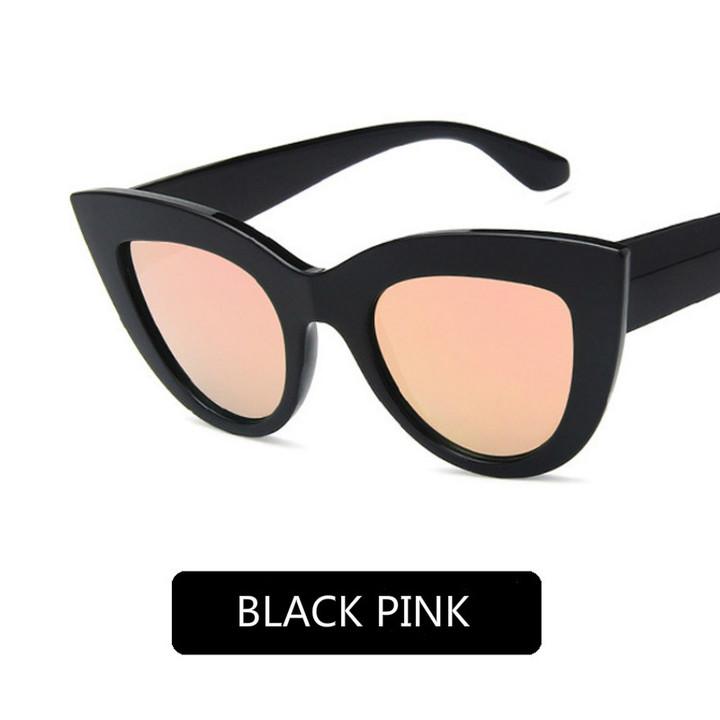 Cat Eye Women Sunglasses ladies Lens Vintage Shaped Europe and America Sun Glasses Female Eyewear Black Pink Cat Eye Vintage