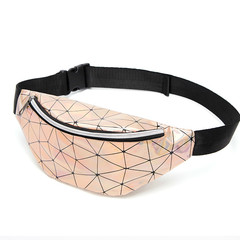 Fashion Waist Bags Women Fanny Pack Female shoulder Belt Bag Waisted Packs Laser Chest Phone Pouch gold one szie