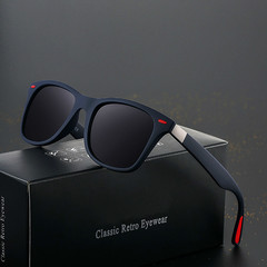 Fashion  Polarized Sunglasses Men Women Driving Square Frame Sun Glasses Male Goggle Shades Mirror black one size