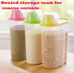 Sealed storage tank for coarse cereals Food storage tank green