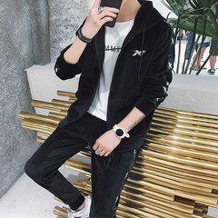 Casual suit men's long pants black m