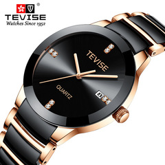 new style quartz watch for men's fashion and leisure personality in 2019 black and white commonly