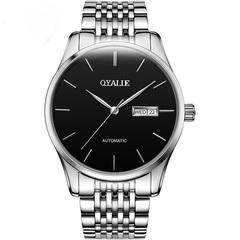 Automatic mechanical watch Sunday calendar watch waterproof men's watch black commonly