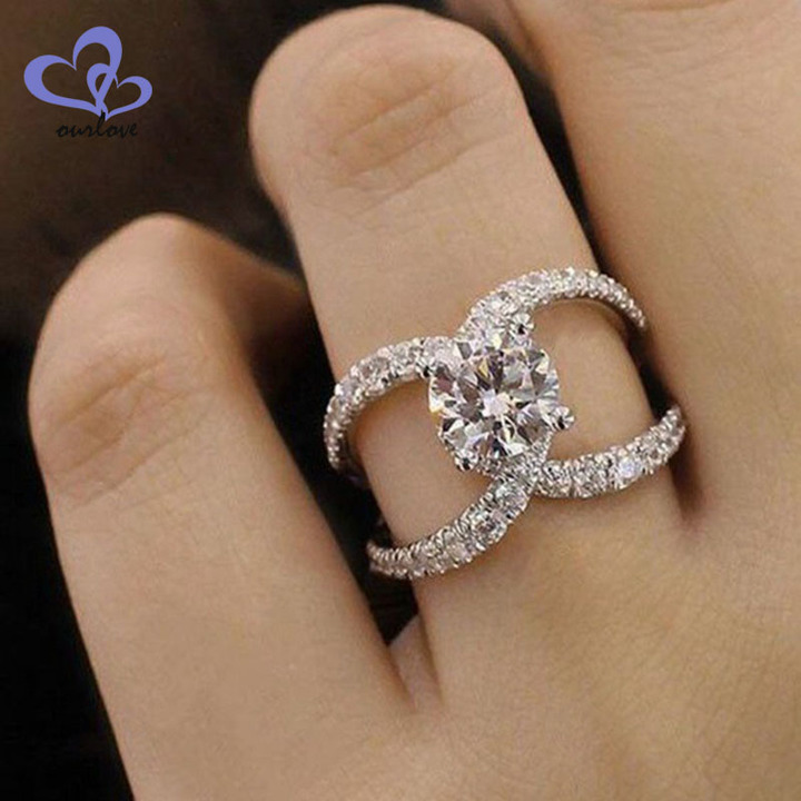 Kilimall Zircon Ring European And American Fashion Jewelry Female