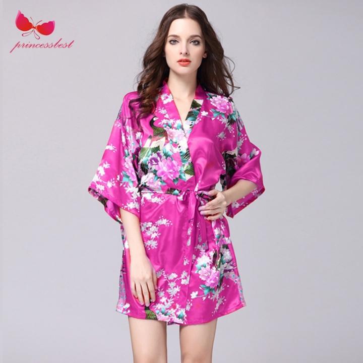 3f0b28bd8d 2018 new silk robes women s pajamas sexy bathrobes plus-size home clothes  Meihong. xl
