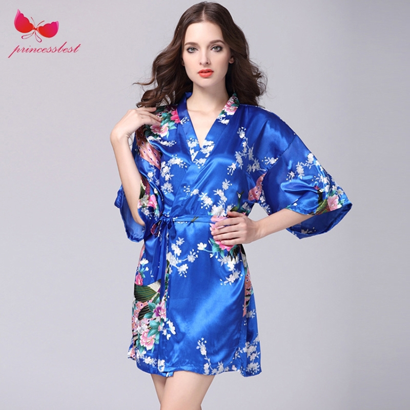 af77df79f6b 2018 new silk robes women s pajamas sexy bathrobes plus-size home ...
