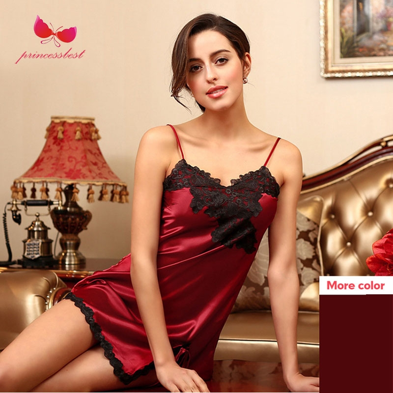 ... ladies silk embroidery sexy pajamas home service simulation silk  nightdress wine red m  Product No  2547677. Item specifics  Seller  SKU xc-01310  Brand  f6468a90a