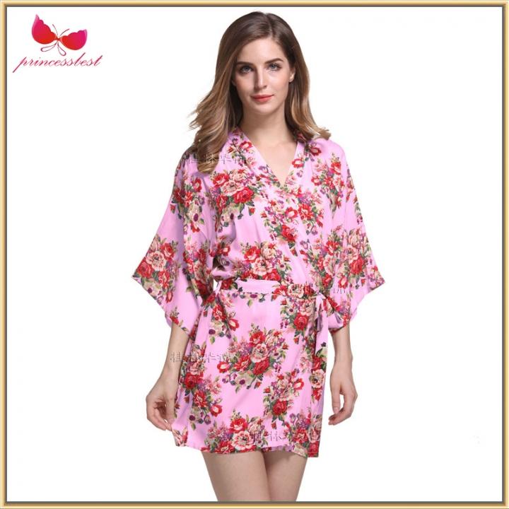 d2d6f0e4c9 2018 Hot Printed Cotton Pajamas Silk Light Cotton Short Printed Robe pink  xxl