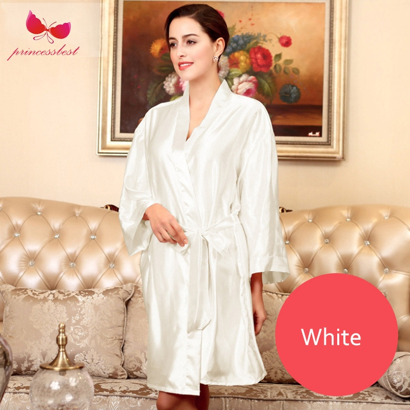 Lady silk robe wedding gown embroidery Bride thin cardigan gown ... 69930e079