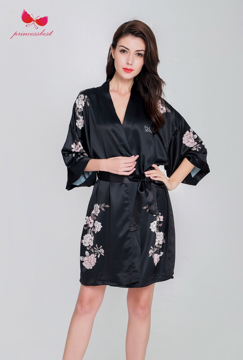 b157051b84 Peacock robe bathrobe sexy cardigan silk pajamas ladies  oversize home clothes  black m  Product No  7873257. Item specifics  Seller SKU PR0196  Brand