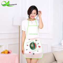 Stylish cute fruit print apron kitchen cooking waterproof apron apron watermelon general
