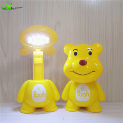 Creative cute bedroom cartoon table lamp charging led night light eye protection bedside lamp Sitting bear general 1.2W