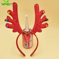 Novel one-horned antlers Christmas headband Christmas party party supplies Unicorn antler headband 17cmX26cm 1000(lm)