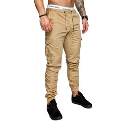 New men's casual tether elasticated trousers black m