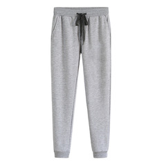 Men's outdoor sports running trousers tight feet autumn and winter casual pants gray s