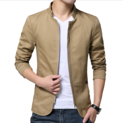 Autumn casual men's jacket men's suit cotton trench coat men wash Jacket coat men's body khaki m