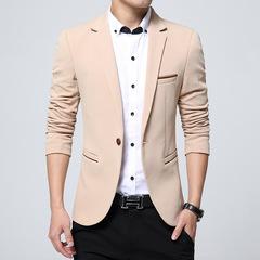 Casual suit men's suit jacket western men's wear slimming khaki m