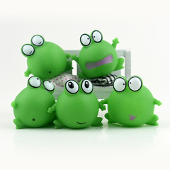 Children's play water bath toy pinch called safe non-toxic bath toy set small frog shape green 10