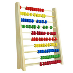 Ten files, abacus rack, wooden calculation frame, children's early education and educational toys. standard 8cm