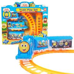 Electric railway train toy car blue 30