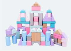The original wood color color marca dragon building blocks one color one size