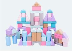 The original wood color color marca dragon building blocks one color one size
