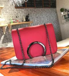 The new joker han edition aslant bag fashion tide pure  handbag chain small bag of candy color bag re'd o'ne si'ze