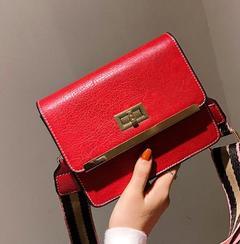 Vintage handbags female han edition style strapless mini oblique cross wide bag lady contracted joke re'd o'ne si'ze