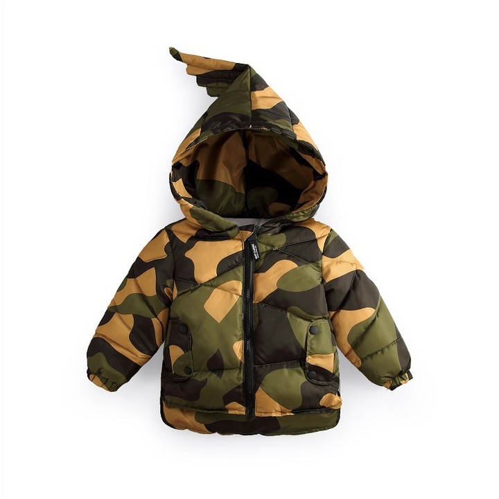 d127c063f Children s clothes camouflage coat baby s warm clothes feather down ...