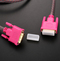 DVI data line 24 + 1 computer monitor high definition video cable pair Pink one