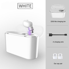 Wireless Bluetooth 4.2 Mini Headset white conventional conventional