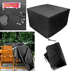 Oxford cloth outdoor garden dustproof waterproof cover garden table furniture cover black 123*123*74